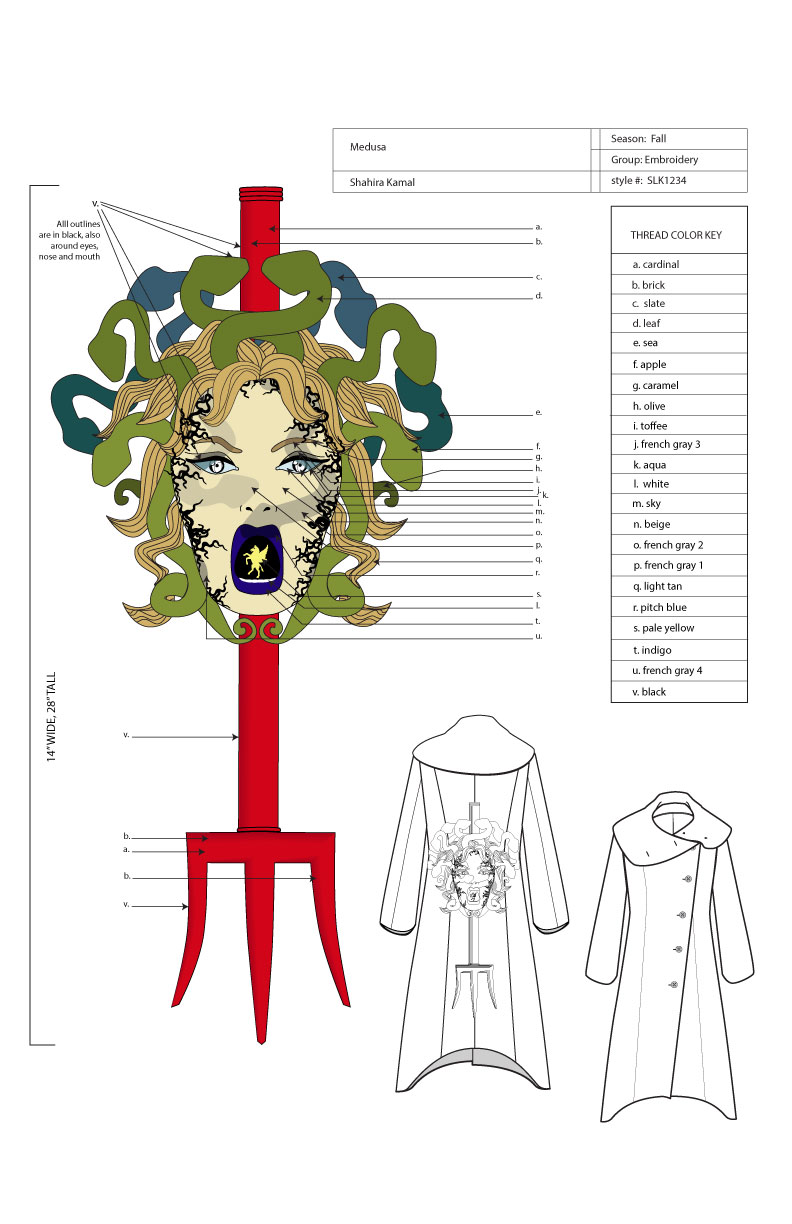 Technical_Sketch_Embroidery_Medusa