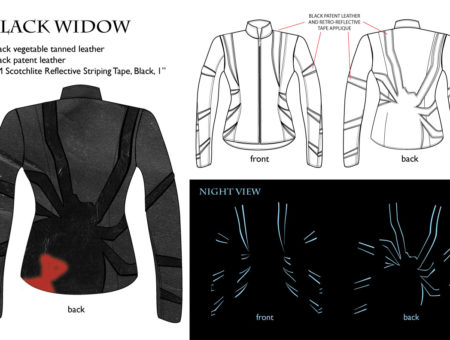 Moto jacket – BLACK WIDOW