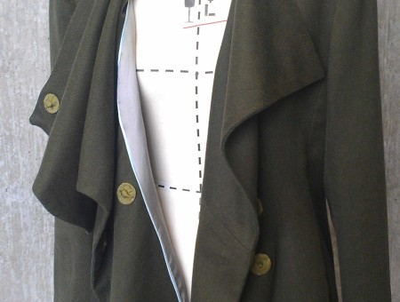 Wool + Hemp Blend Shawl Jacket