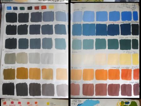 Color Explorations for Film Noir/Toulouse Lautrec Sketchbook