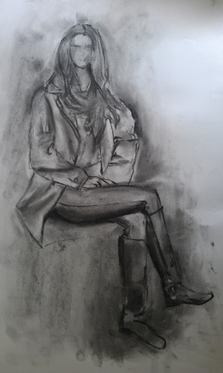 Fashion Life Drawing – charcoal