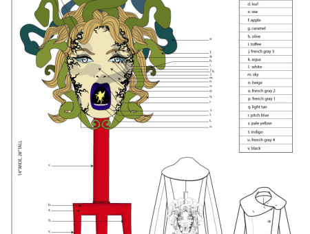 Embroidery Tech Design – Medusa